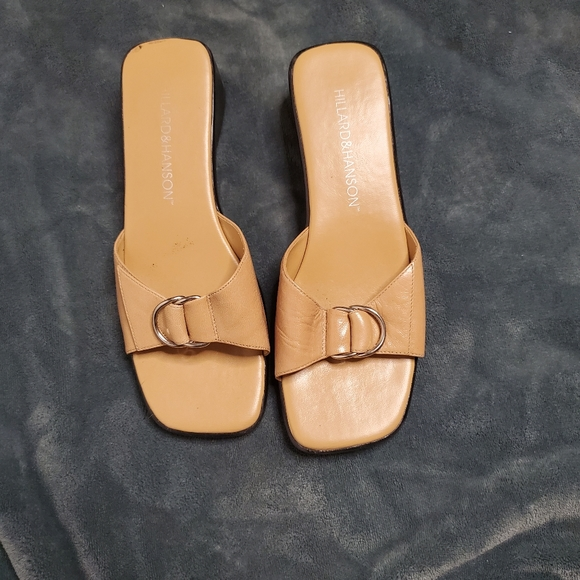 Vintage 90's square toe leather sandals